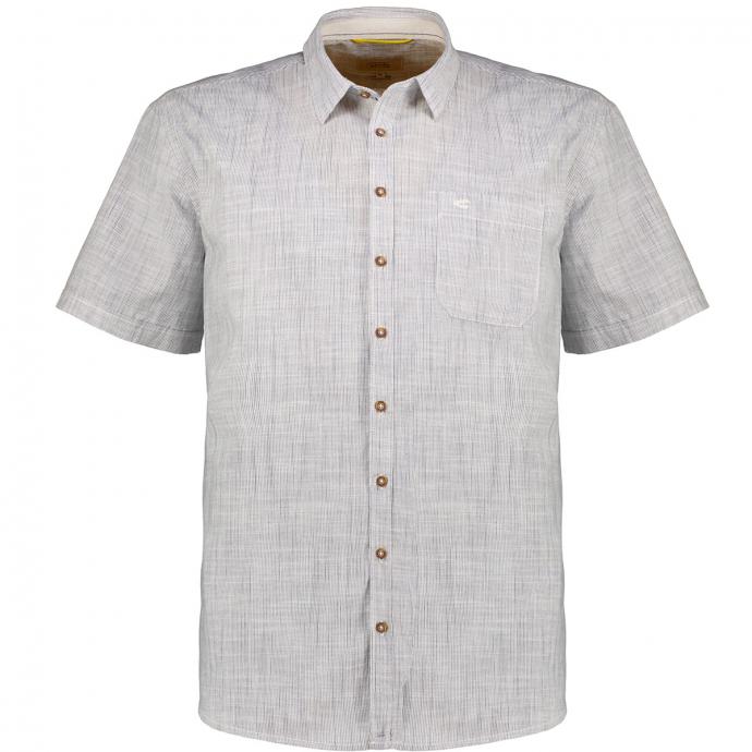 Freizeithemd aus luftiger Baumwolle mit Römerstreifen, kurzarm beige_49/75 | 3XL