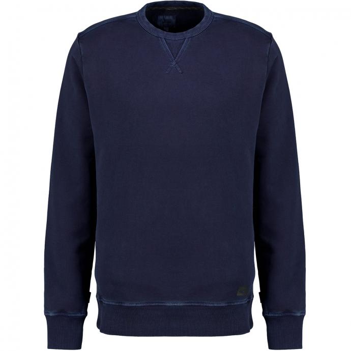 Sweatshirt in Garment-Dyed-Look dunkelblau_49 | 3XL