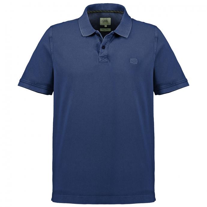 Modisches Poloshirt im Used-Look blau_43 | 6XL