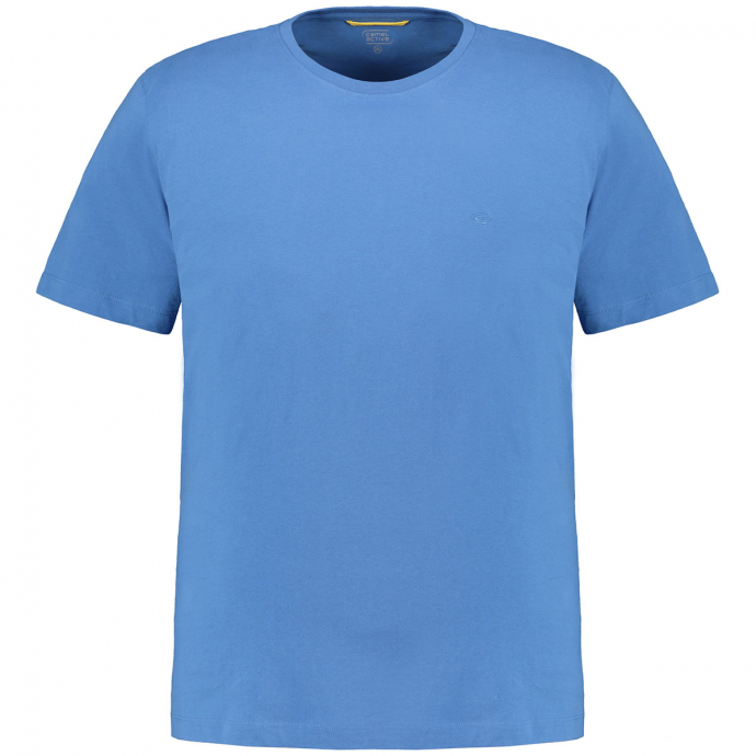 Bequemes Basic T-Shirt blau_14 | 3XL