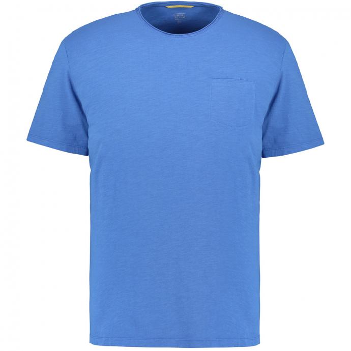 Modernes T-Shirt mit Brusttasche blau_14 | 3XL