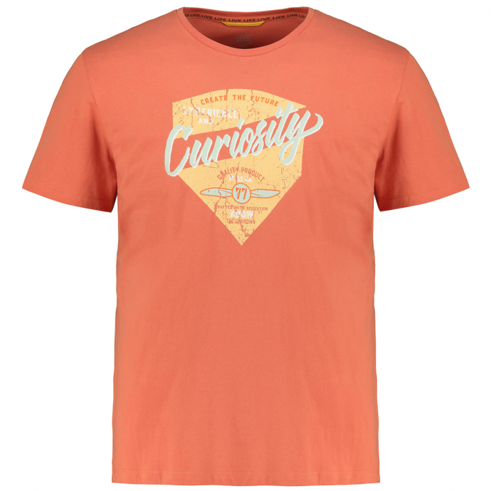 "T-Shirt mit auffälligem ""Curiosity""-Print orange_42/55 | 6XL"