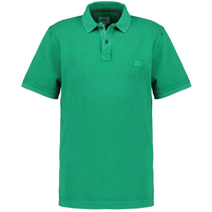 Poloshirt im Used-Look, kurzarm grün_34/60 | 6XL