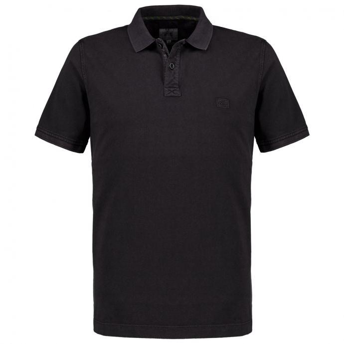 Poloshirt im Used-Look, kurzarm anthrazit_88   3XL