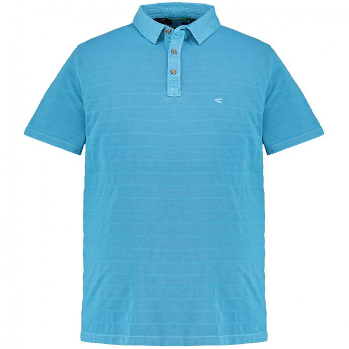 Poloshirt mit kontraststreifen, kurzarm türkis_52 | 3XL