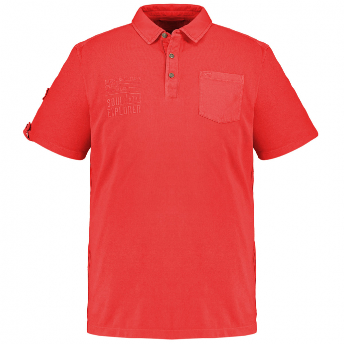 Klassisches Poloshirt mit Brusttasche, kurzarm rot_40/50   3XL