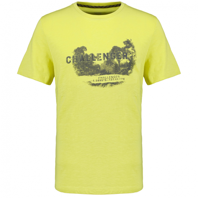 T-Shirt mit Challenger-Print gelb_62 | 3XL