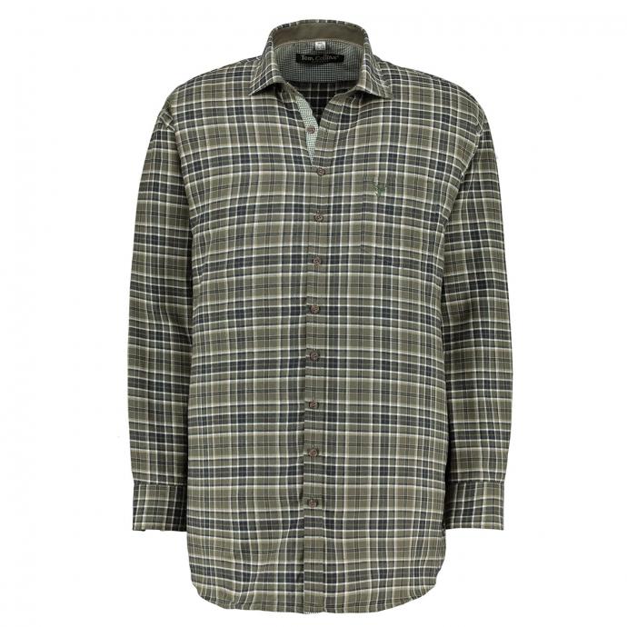 Jagdhemd aus Baumwolle oliv_55 | 3XL