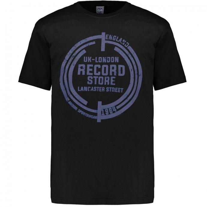 Kurzarm T-Shirt mit Graphik-Print schwarz_77 | 3XL