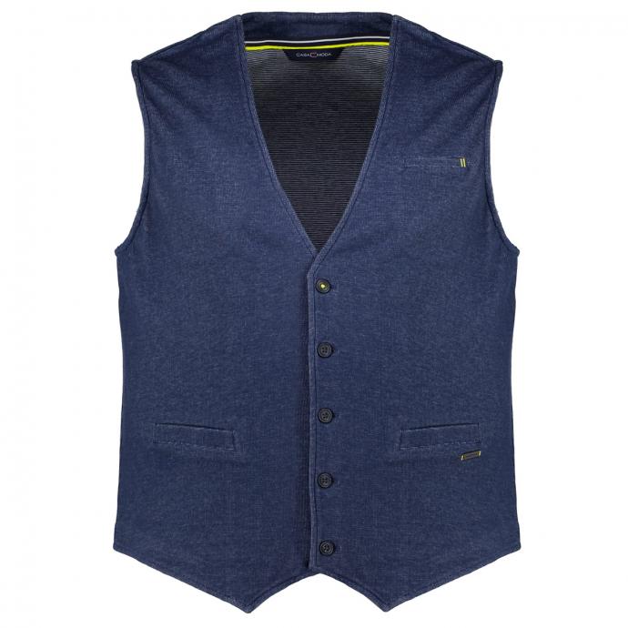 Lässige Jerseyweste - die attraktive Alternative zum Sakko dunkelblau_147 | 3XL