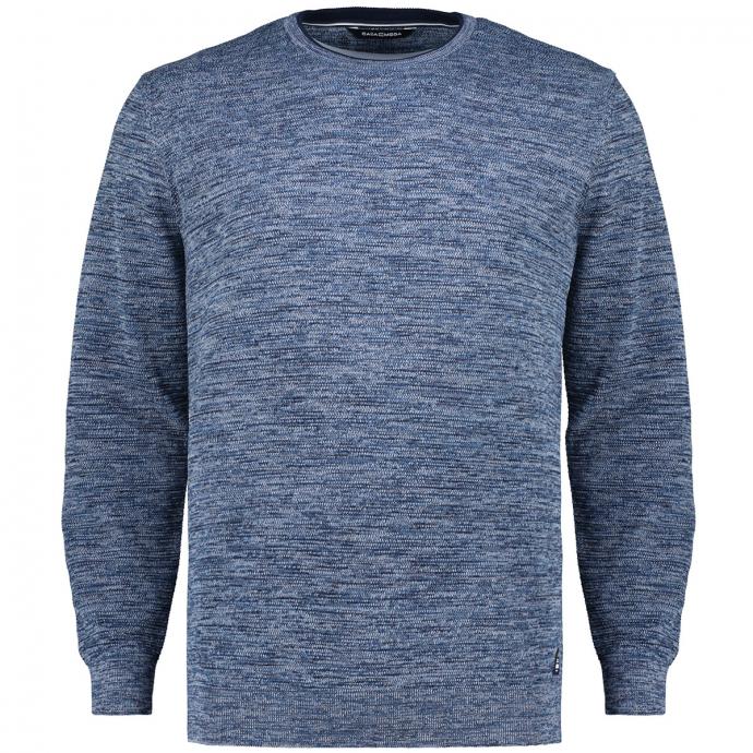Leichter Pullover aus mehrfarbigem Baumwollstrick marine_105 | 3XL