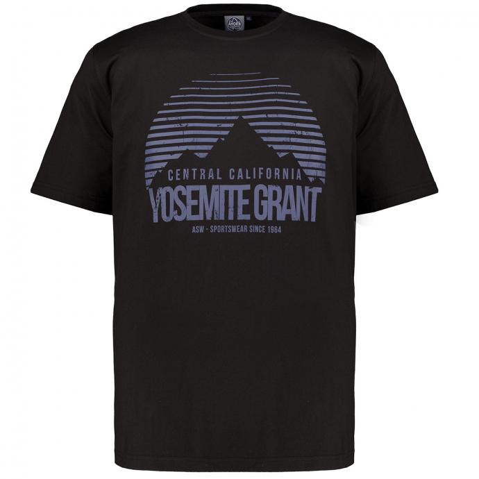 """T-Shirt aus Baumwoll-Stretch mit Rundhalsausschnitt und Print """"YOSEMITE GRANT"""" schwarz_77   3XL"""