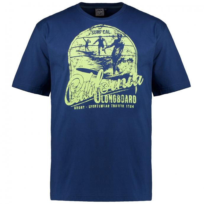 "T-Shirt ""CALIFORNIA LONGBOARD"" blau_160   3XL"