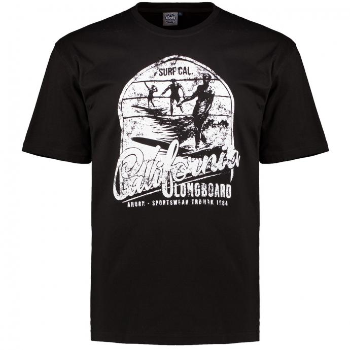 "T-Shirt mit Print ""CALIFORNIA LONGBOARD"" schwarz_77 | 3XL"