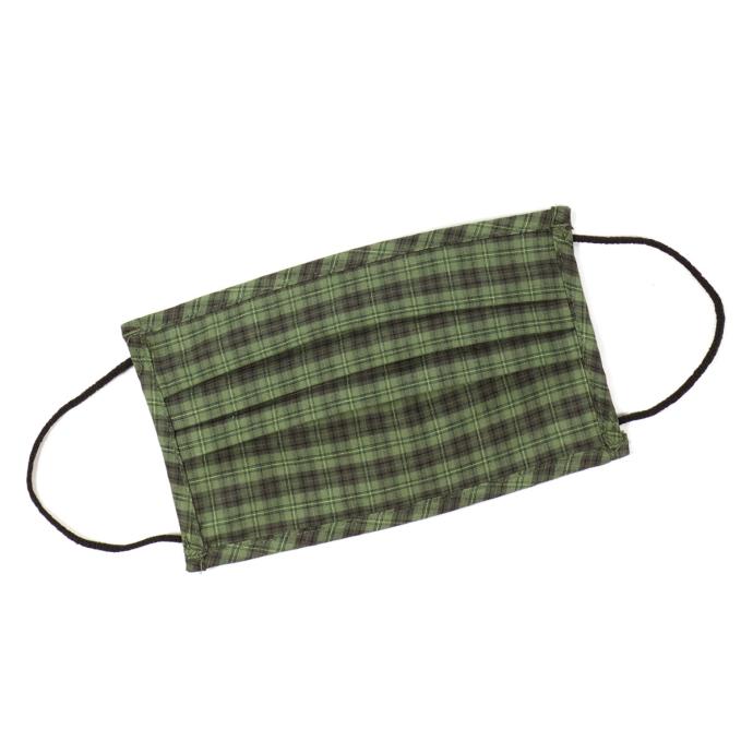 Wiederverwendbar, Behelfsmaske aus angenehmer Baumwolle, traditionell gemustert waldgrün_57 | One Size
