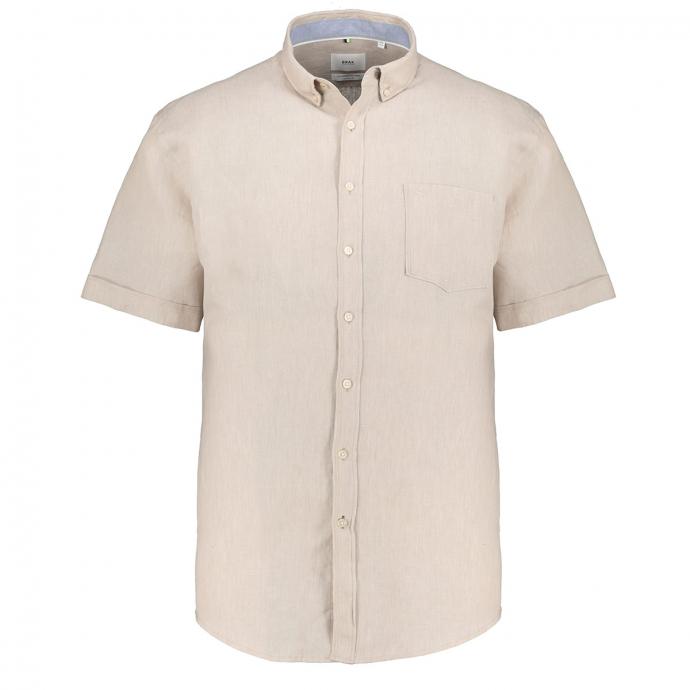 Lässiges sommerliches Leinenhemd, kurzarm beige_55   4XL