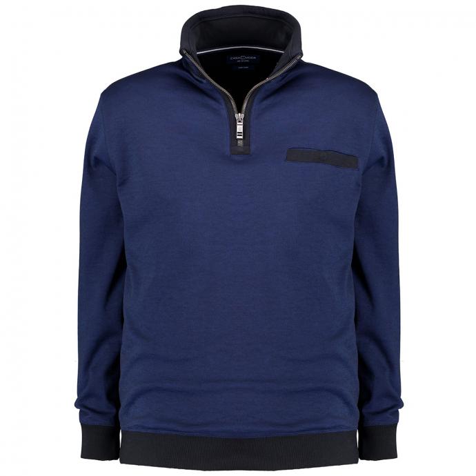 Pullover mit Troyerkragen blau_107 | 3XL