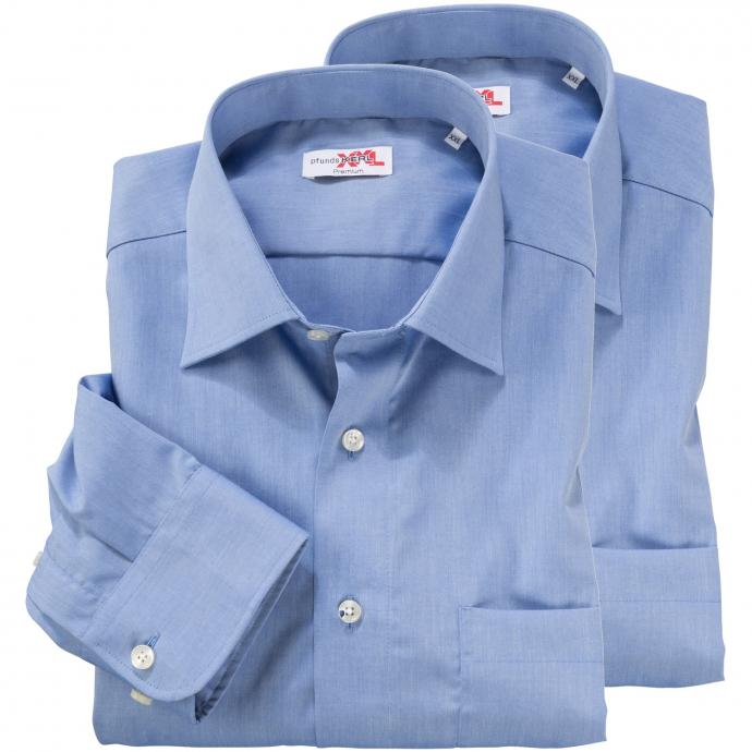 TOPPREIS: Doppelpack Hemden langarm blau_11 | XXL