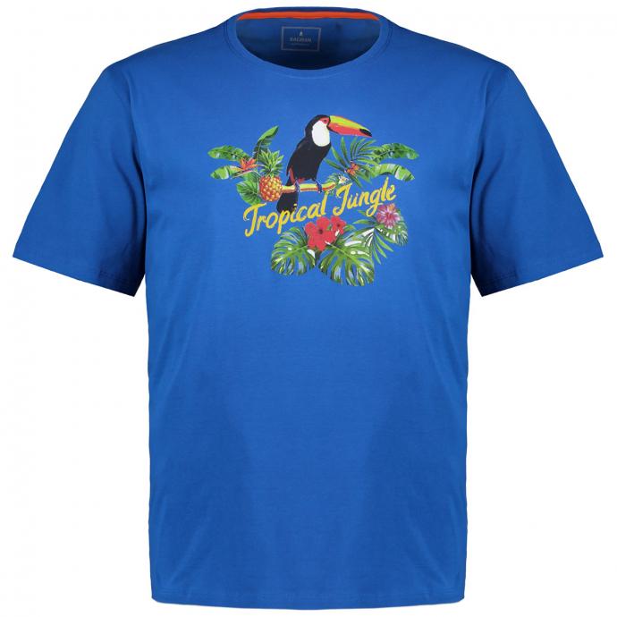 T-Shirt mit ausdrucksstarkem Motiv-Print blau_718 | 3XL
