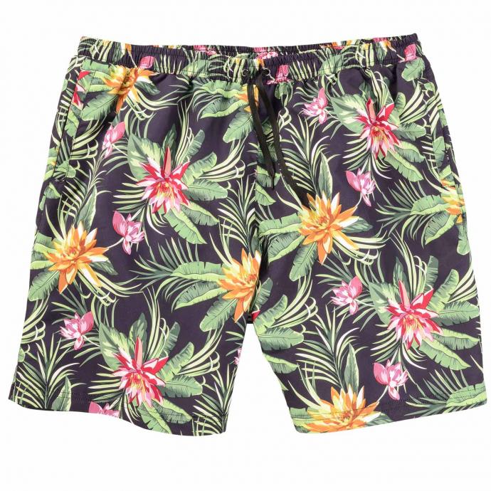 Modische Badeshort mit floralem Print grün_FLOWER | 8XL