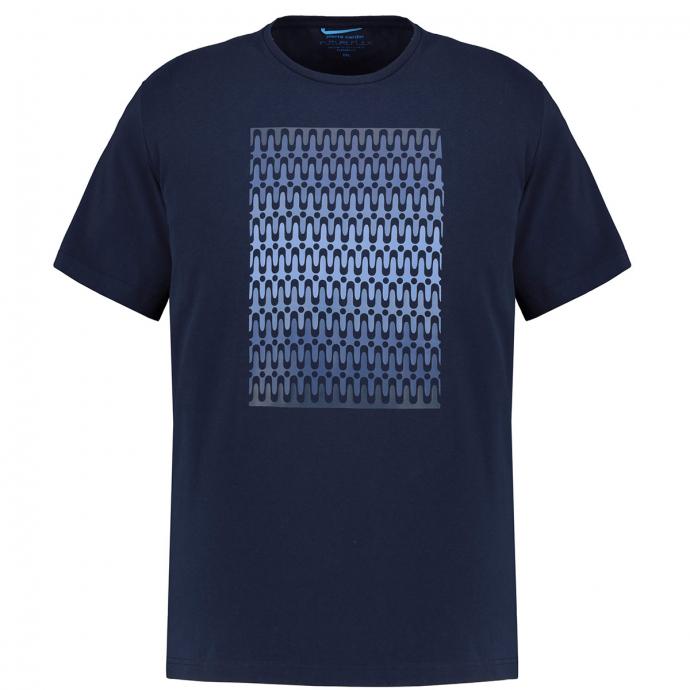 Modisches T-Shirt im Futureflex Style dunkelblau_3050   3XL