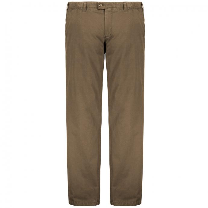 "Hochwertige, elastische Stoffhose ""Jim"" aus Pima-Cotton khaki_35/95 | 60"