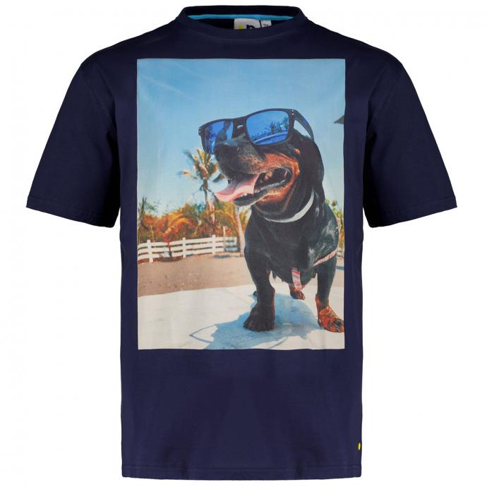 "T-Shirt mit Print ""Dog"" dunkelblau_547 | 3XL"