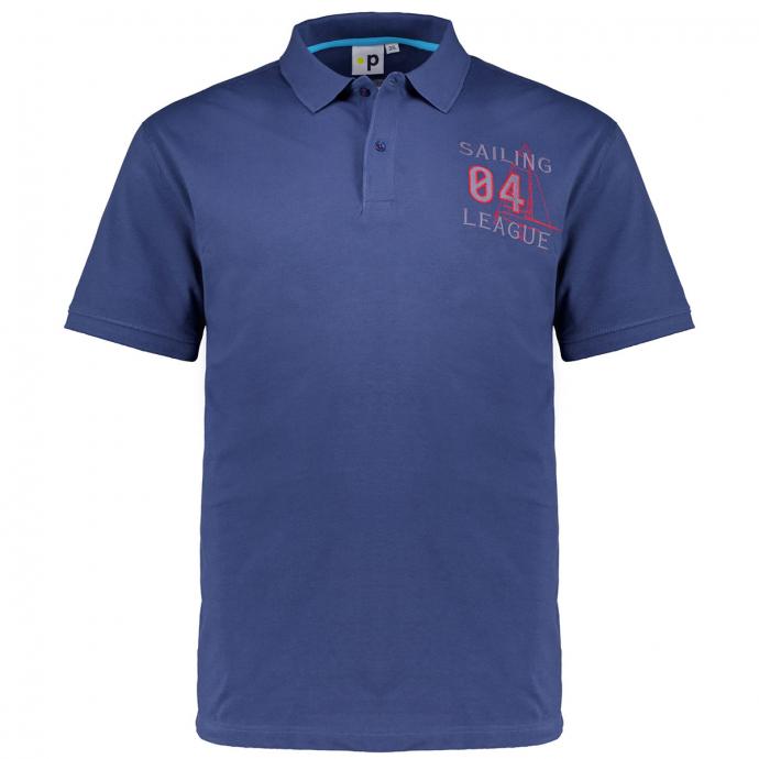 """Poloshirt """"League"""" mit Stickerei, kurzarm blau_858   3XL"""