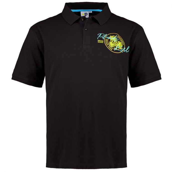 """Poloshirt """"Palm"""" mit Stickerei, kurzarm schwarz_700   3XL"""