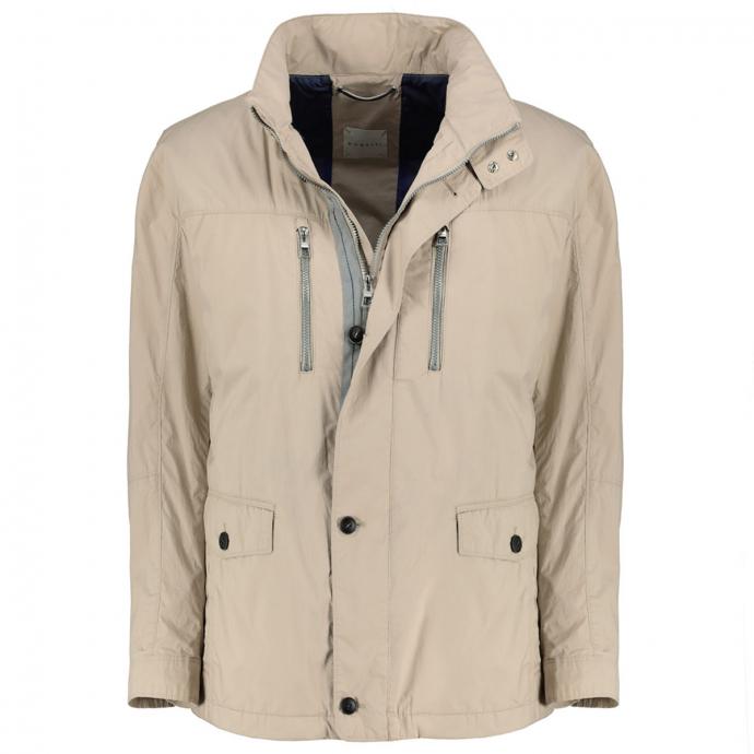 Lange Jacke mit praktischen Taschen beige_40 | 62