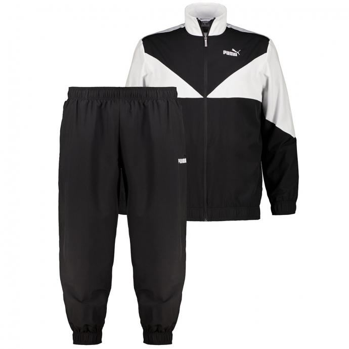 Klassischer Trainingsanzug im Colorblock, 2-teilig schwarz_BLACK   3XL