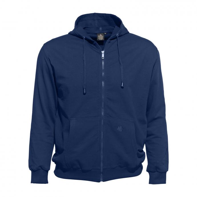 Sweat-Jacke mit Kapuze blau_160 | 3XL