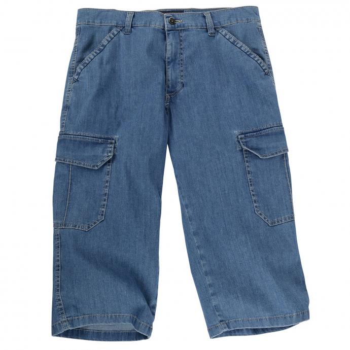 Angesagte Jeans-Bermuda mit Cargotaschen und Stretchanteil mittelblau_64 | 40
