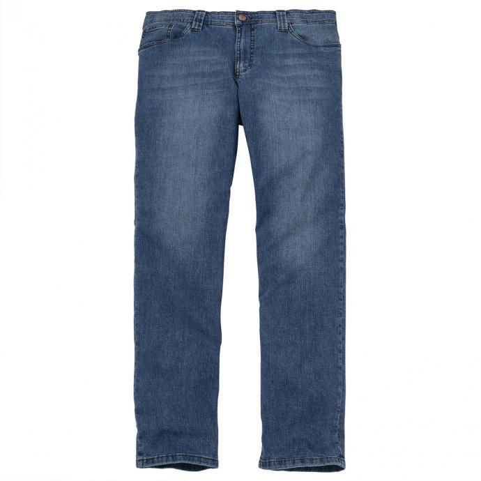 Bequeme Stretch-Jeans mit natürlich wirkender Waschung mittelblau_26 | 60