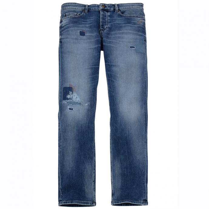 Angesagte Jeans mit cooler Waschung und Used-Effekten jeansblau_54Z4   48/30