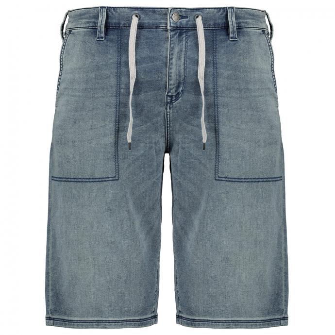 Bequeme Jeans-Short mit Stretch und Kordelzug blau_55Z4 | W42
