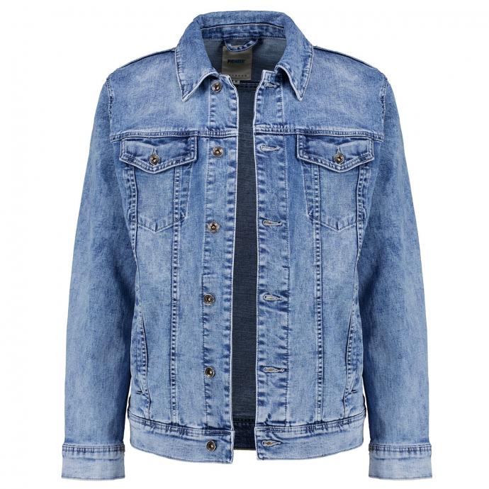 Klassische Jeansjacke mit Stretchanteil jeansblau_578 | 3XL