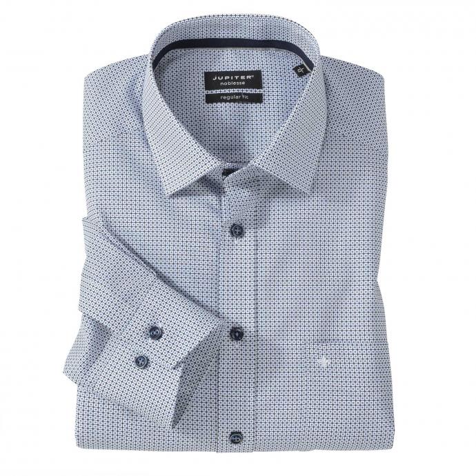 Bügelfreies Cityhemd, langarm blau_175 | 7XL