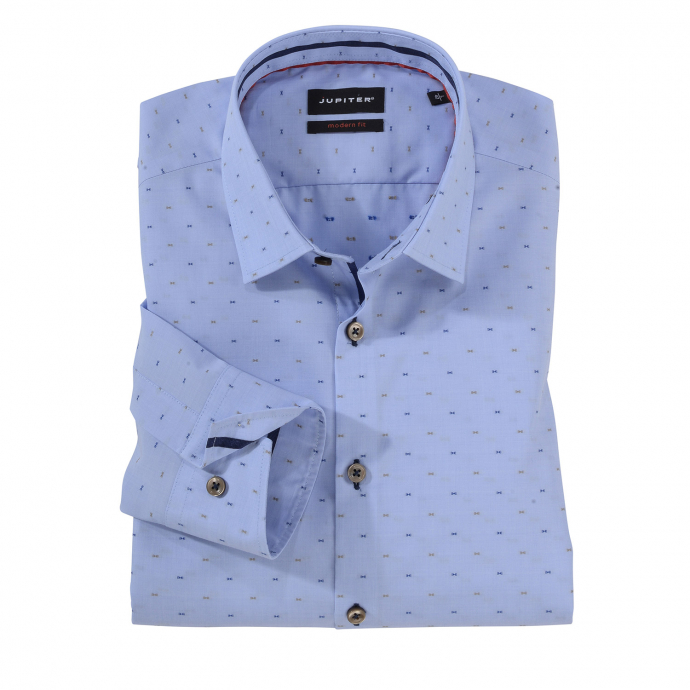Bügelleichtes City-Hemd, langarm hellblau_100 | 4XL