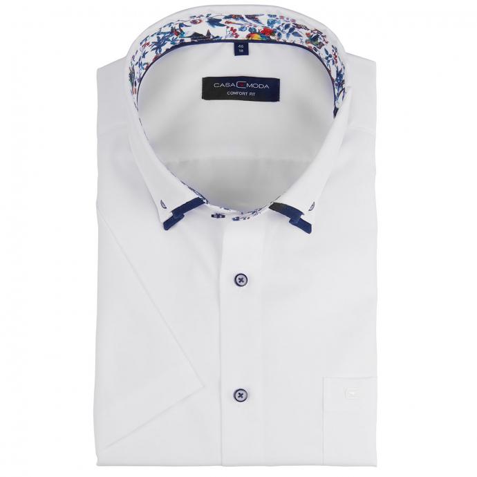 Businesshemd mit Doppelkragen, kurzarm weiß/weiß_000   46