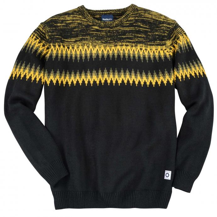 Klassischer Norweger Pullover schwarz_099   3XL