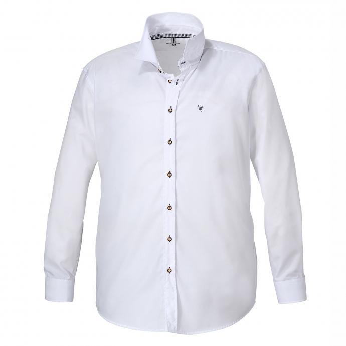 Modisches Trachtenhemd, langarm weiß_88 | 7XL