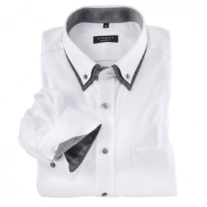 Businesshemd mit Doppelkragen, langarm weiß_00   52