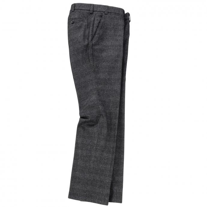 Modische Business-Hose mit dezentem Glencheck-Muster grau_07 | 29