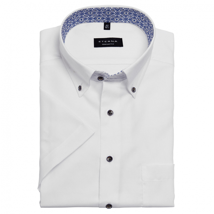 Klassisches Cityhemd mit Brusttasche, kurzarm weiß_00   46