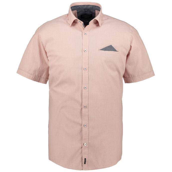 Kurzarmhemd mit innenliegender Brusttasche orange_450/55 | XXL