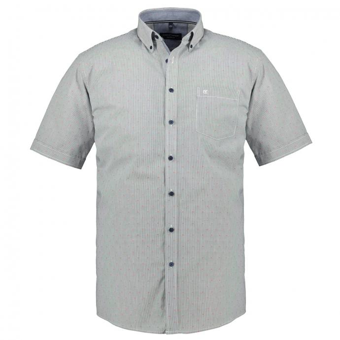 Gestreiftes Kurzarmhemd blau_100   XXL