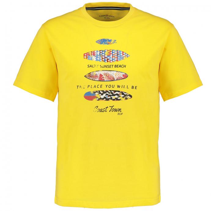 T-Shirt mit Surfbrett-Print gelb_533 | 5XL