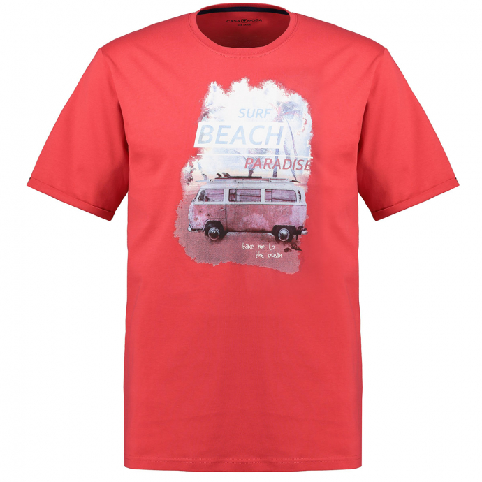 T-Shirt mit lässigem Surfprint rot_429   5XL