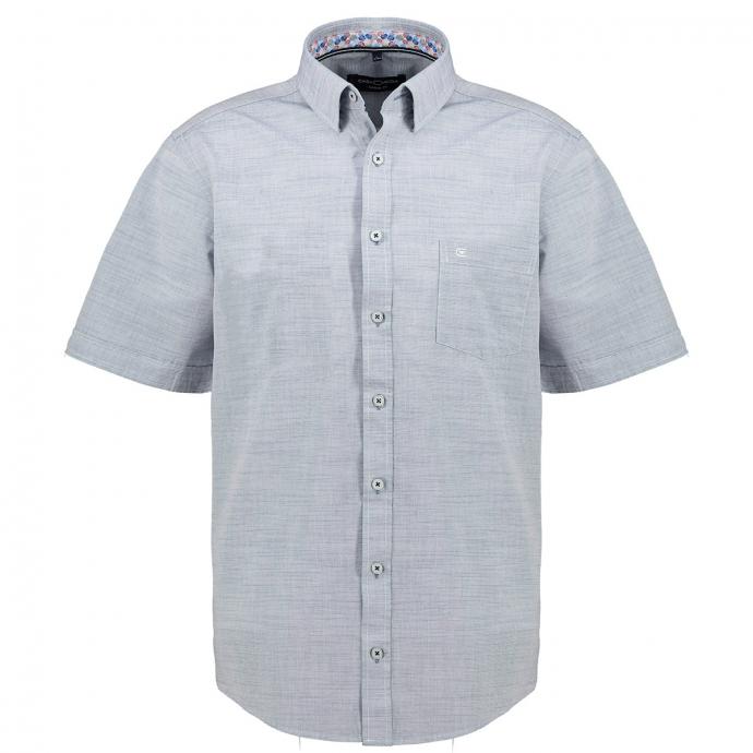 Modisches Freizeithemd in Leinen Optik, kurzarm jeansblau_101 | XXL